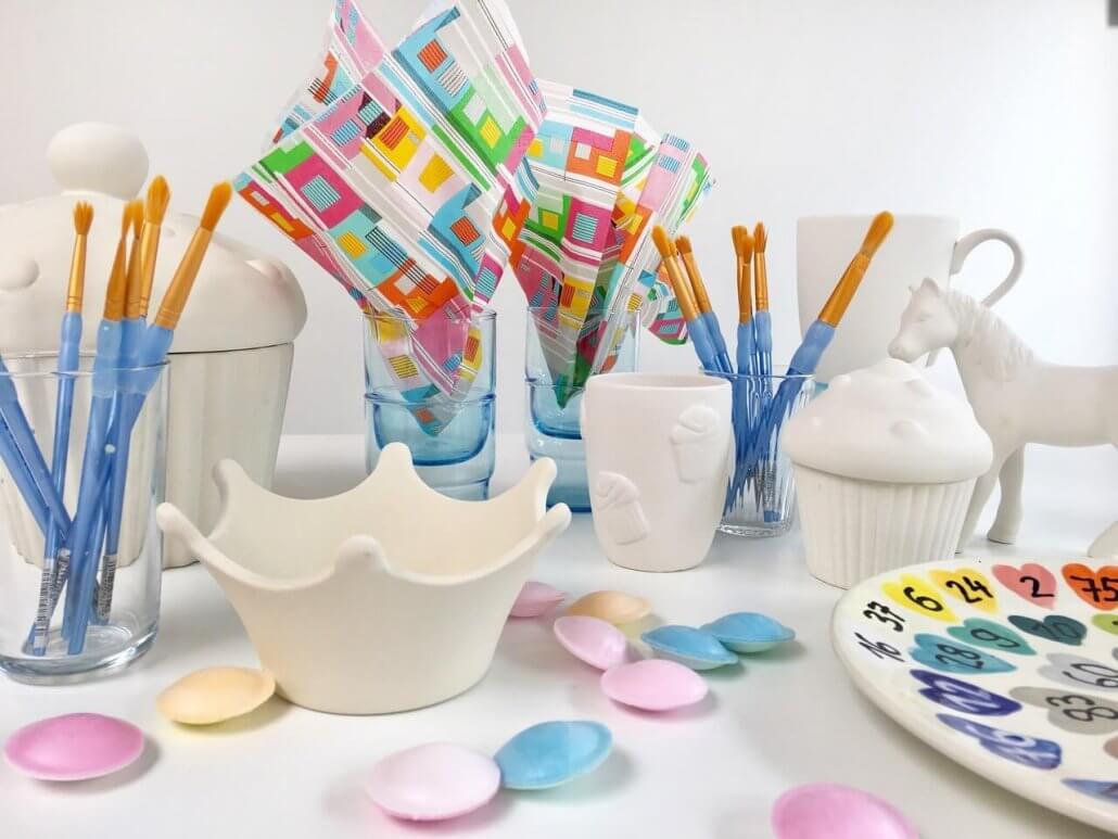Keramik bemalen Neuss Potteria - Kindergeburtstag