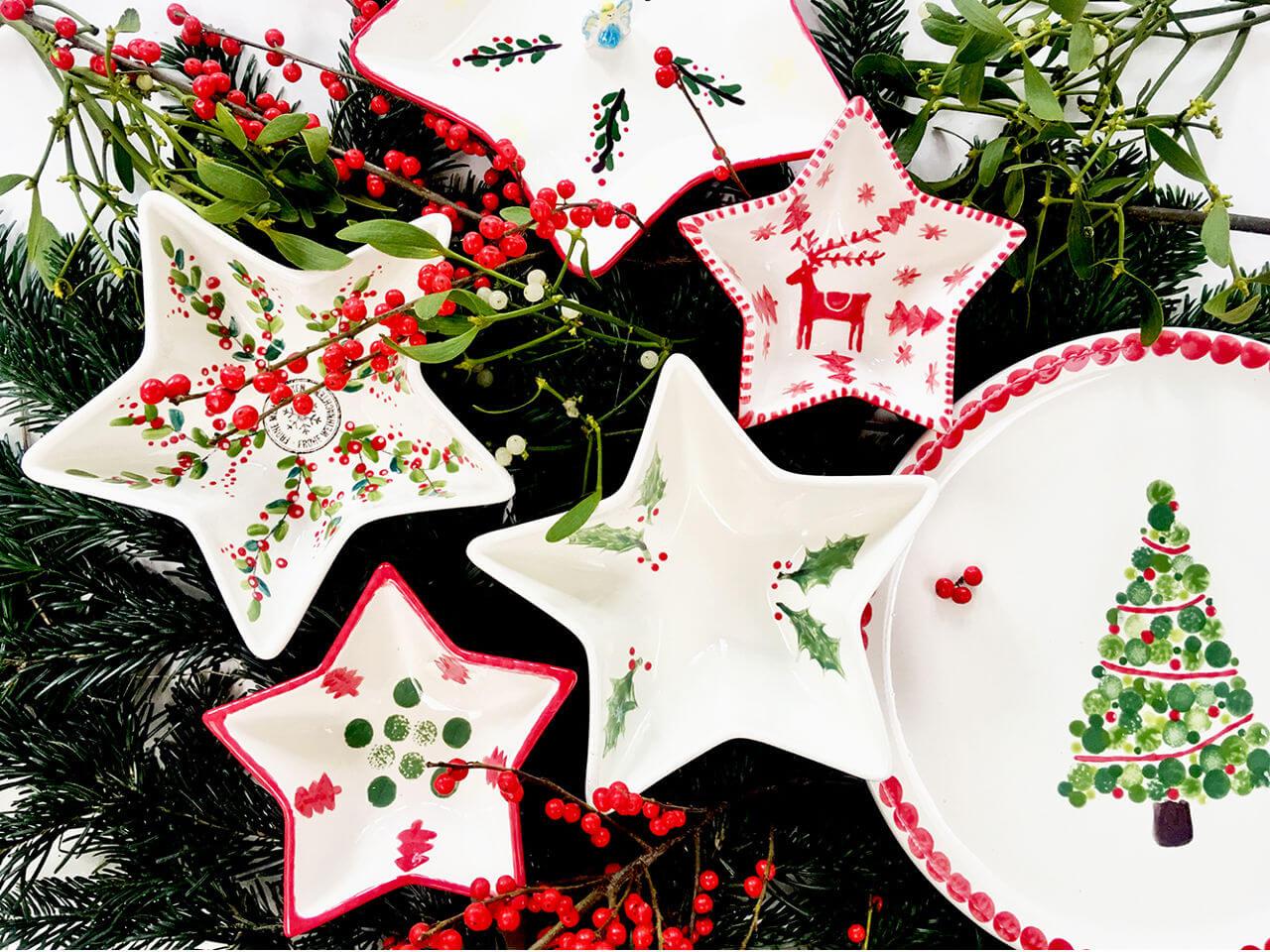 Keramik bemalen Neuss Potteria - Weihnachtsfeier